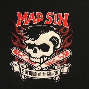 Psychobilly Band 'Mad Sin' Punk T Shirt